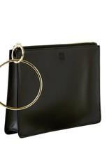 O Ventures Big O Bracelet Bag Black Leather