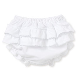Kissy Kissy White Ruffle Diaper Cover
