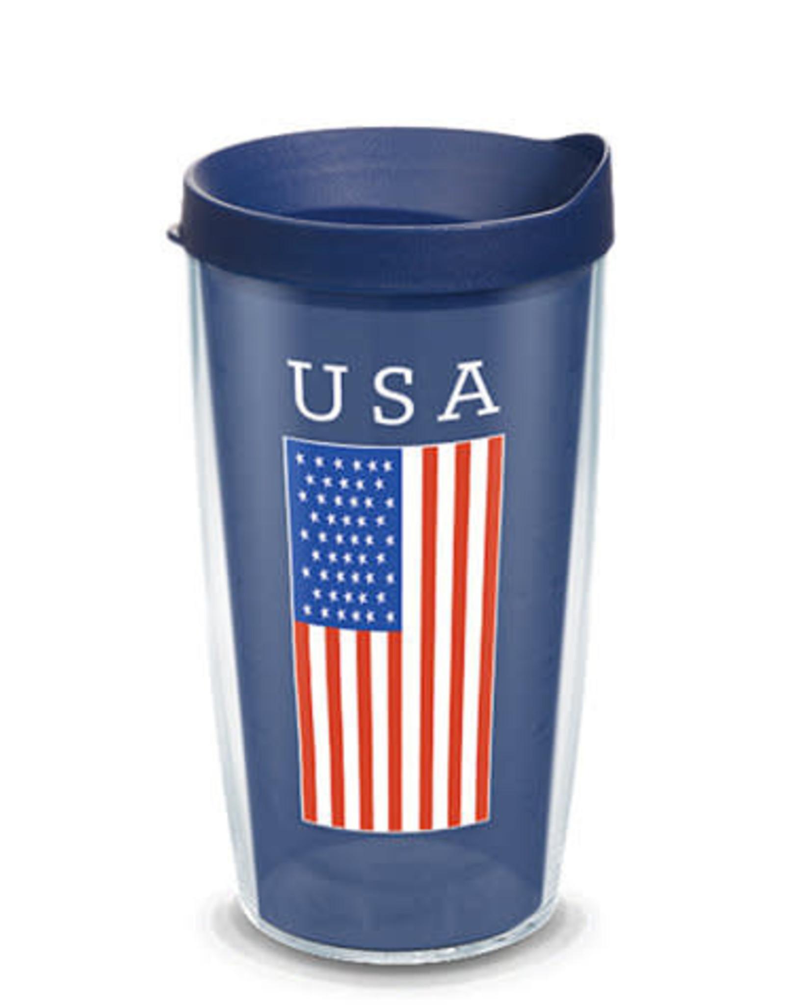 Tervis Tumbler 16oz/lid USA Flag