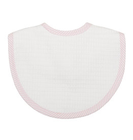 Three Marthas Bib Basic  Pique Pink Stripe