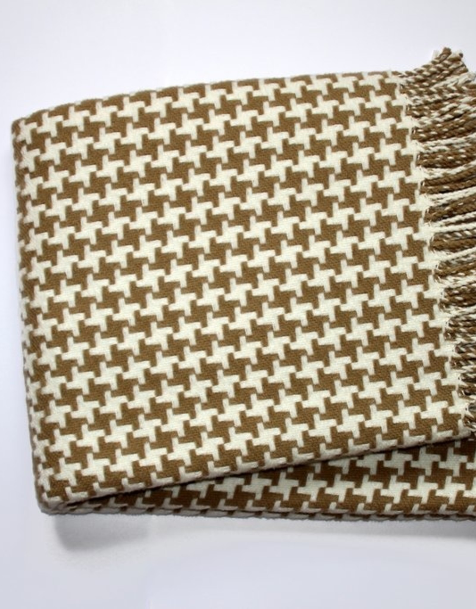 Throw Houndstooth Grey