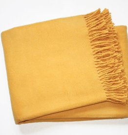 A Soft Idea Cotton Throw Gold