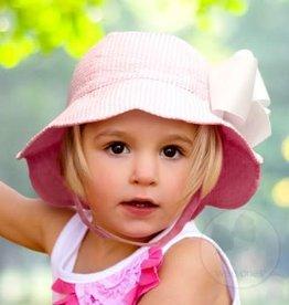 Pink Seersucker Scallop Hat