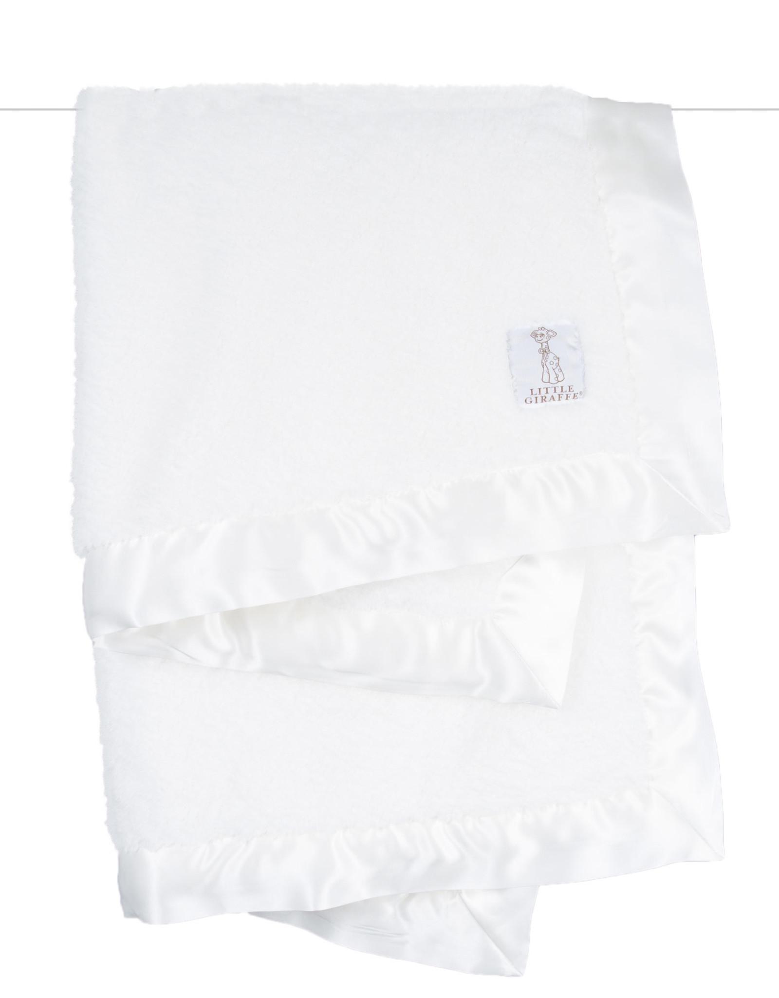 Little Giraffe Chenille Blanket White