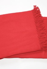 A Soft Idea Cotton Throw Red