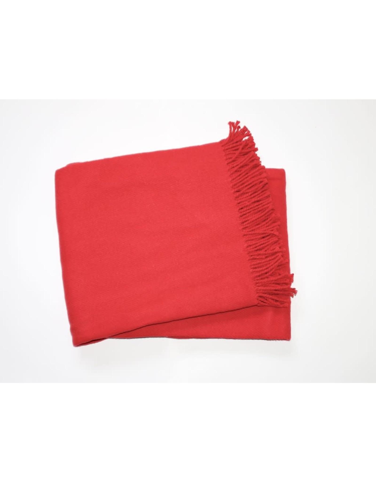 A Soft Idea Cotton Throw Red