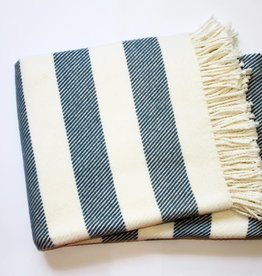 A Soft Idea Candy Stripe Throw Lagoon