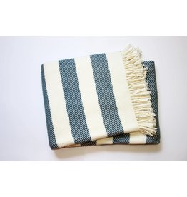 A Soft Idea Candy Stripe Throw Slate