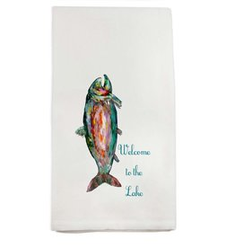 French Graffiti Trout Welcome to the Lake Towel