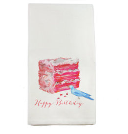 French Graffiti Happy Birthday CakeTowel