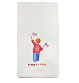 French Graffiti 4th of July Boy Towel