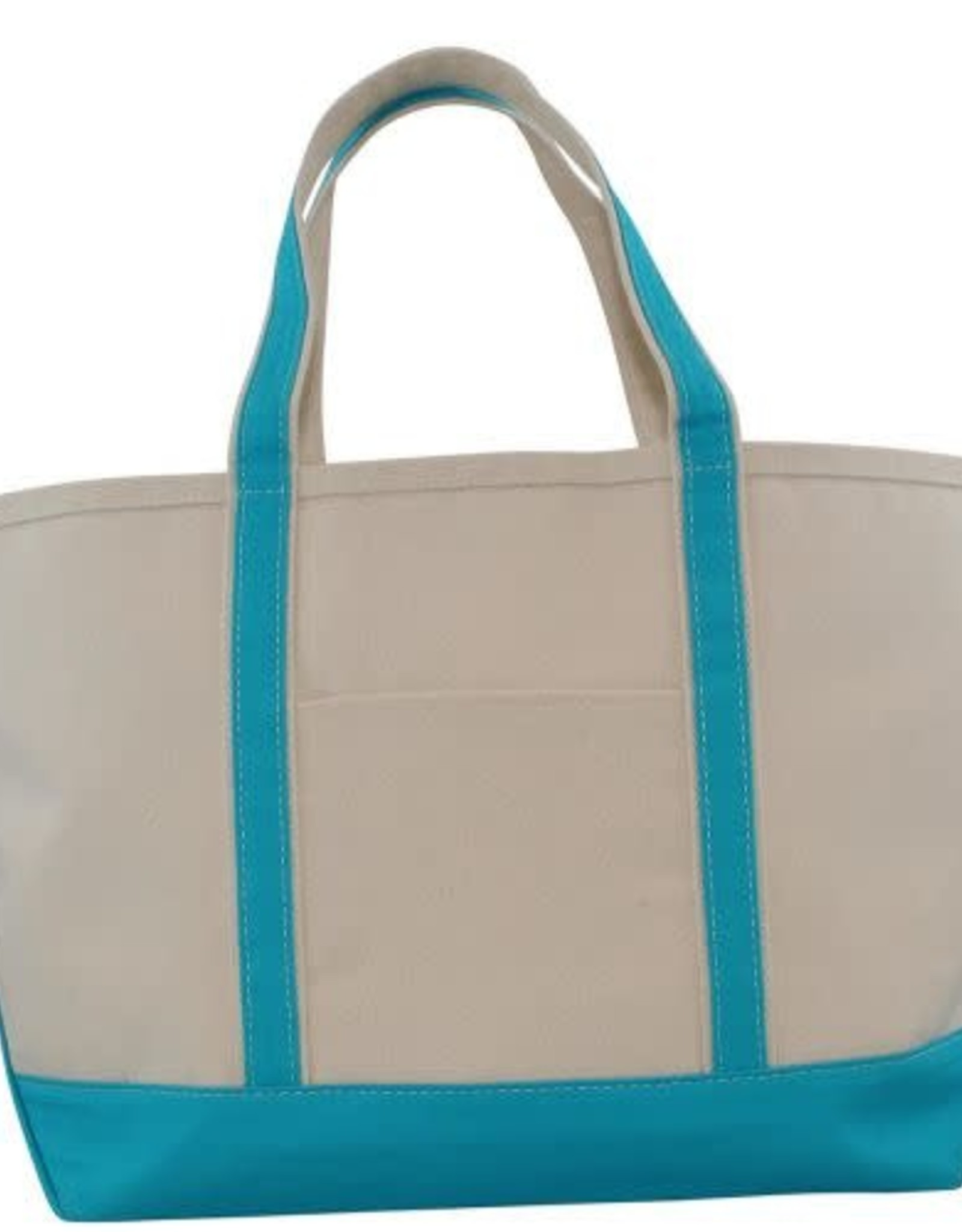 Large Canvas Boat Tote Turquoise