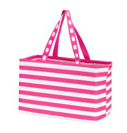 Viv & Lou Hot Pink Stripe Ultimate Tote