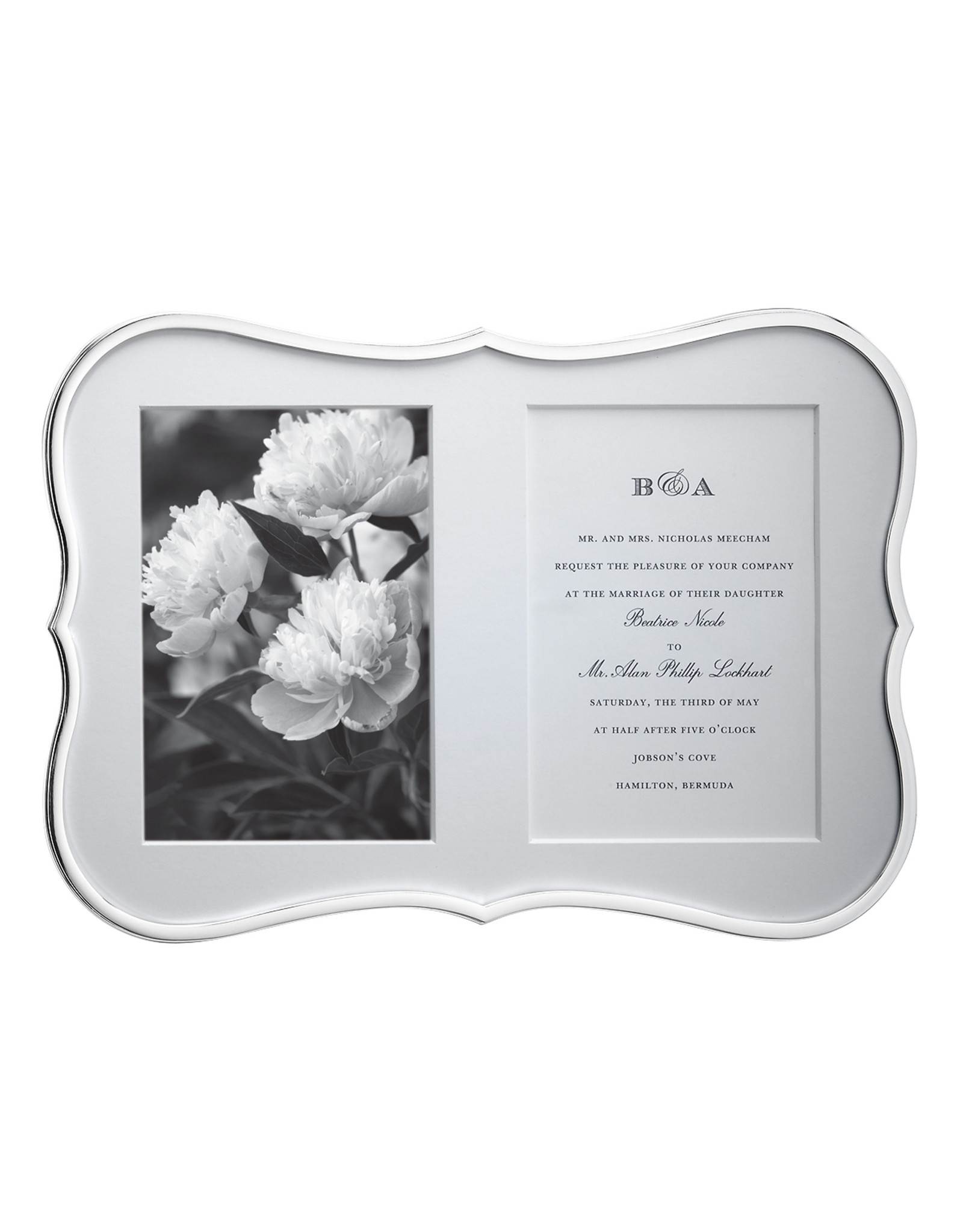 Kate Spade Crown double invitation frame