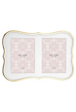 Kate Spade Crown gold double invitation frame