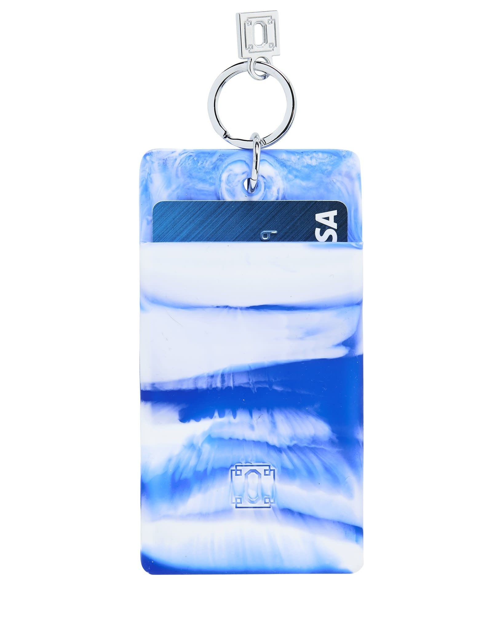 O Ventures Silicone ID Case Blue Me Away Marble