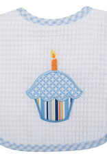 Three Marthas Feeding Bib Cupcake Blue