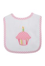 Three Marthas Feeding Bib Pink Cupcake