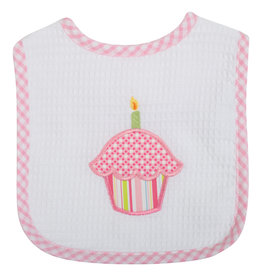 Three Marthas Feeding Bib Pink Cupcake