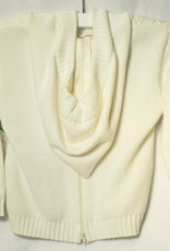 Carriage Boutique Cable Hooded Sweater White