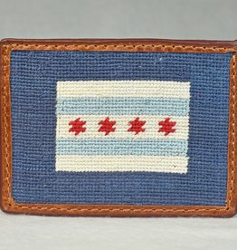 Smather's & Branson Card Wallet Chicago Flag