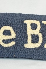 Lake Bluff Pillow Blue Cream Letters