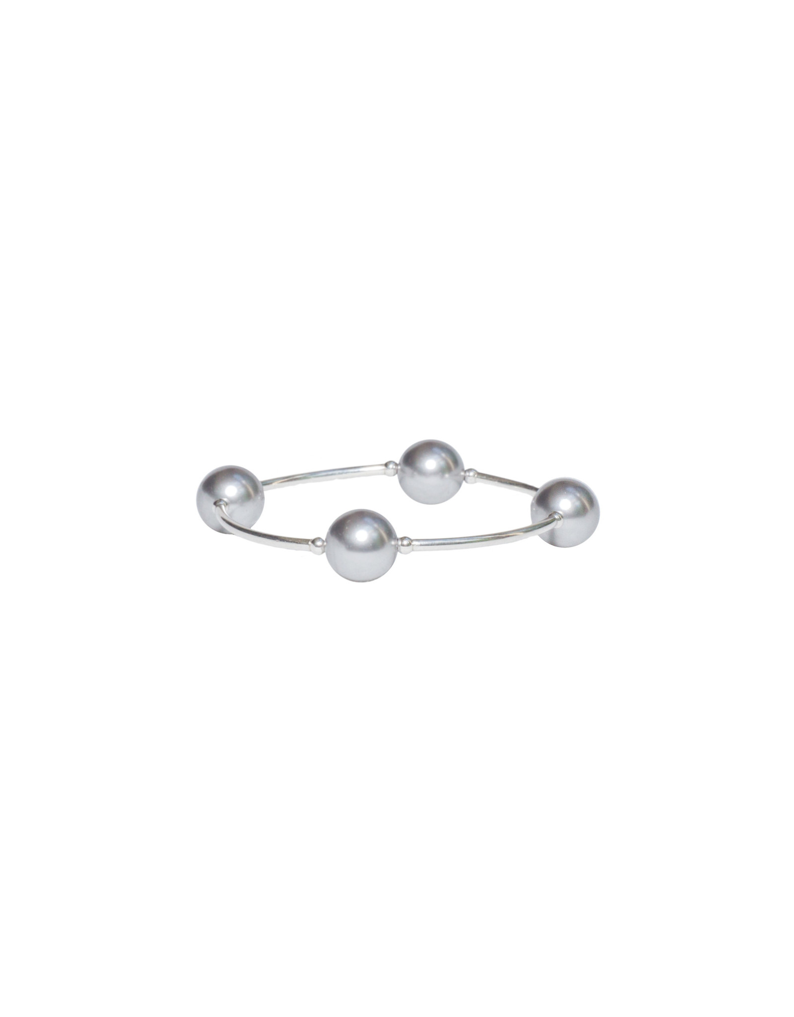 Made As Intended Silver Pearl Blessing Bracelet
