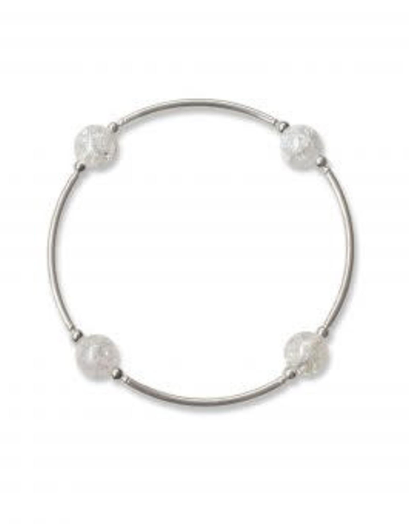Made As Intended 8mm Snowflake Quartz Blessing Bracelet