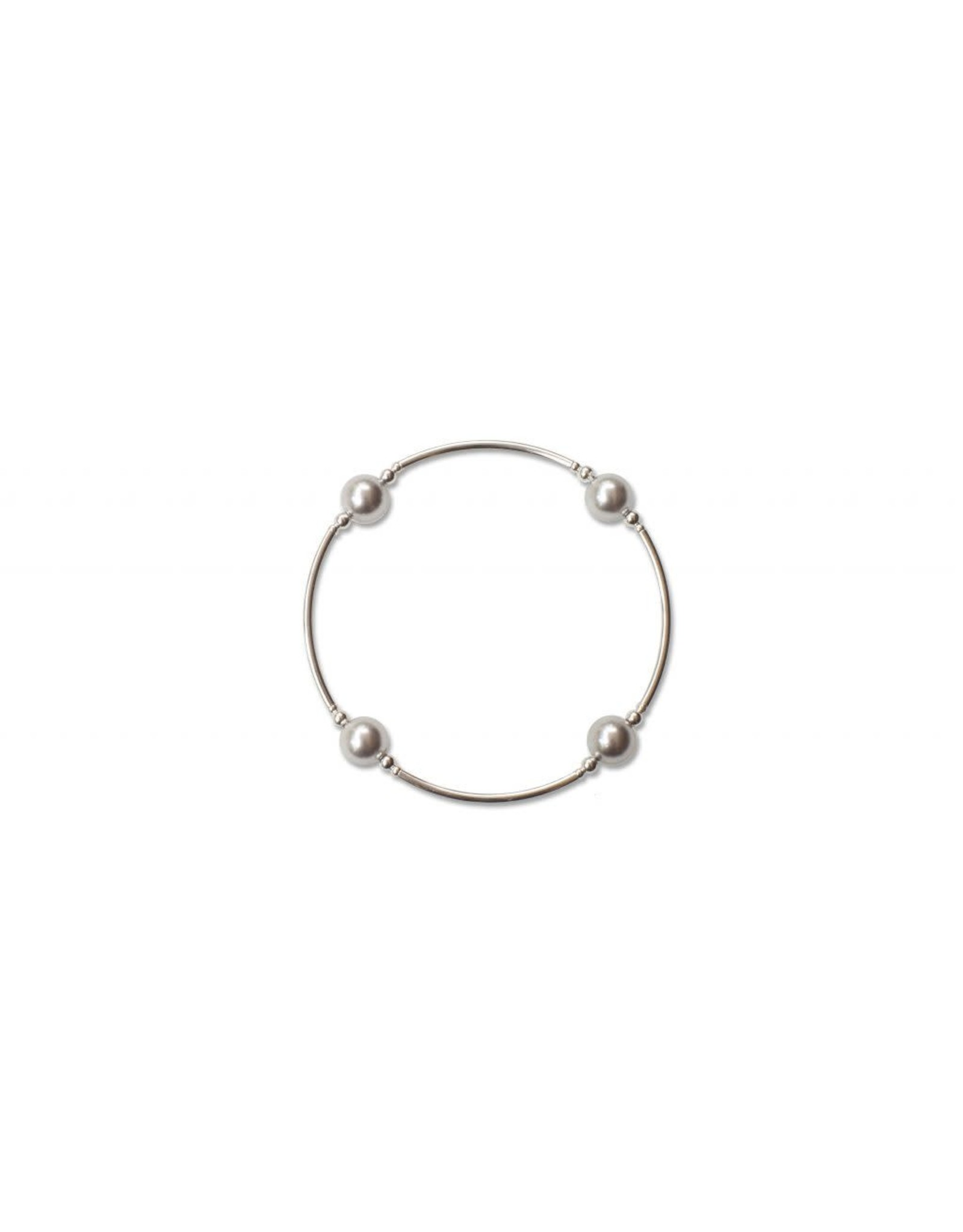 Made As Intended 8mm Silver Pearl Blessing Bracelet