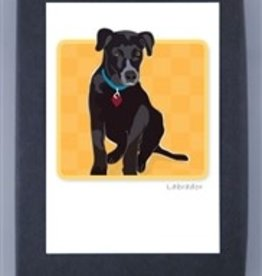 Paper Russells Black Lab Pup Cards