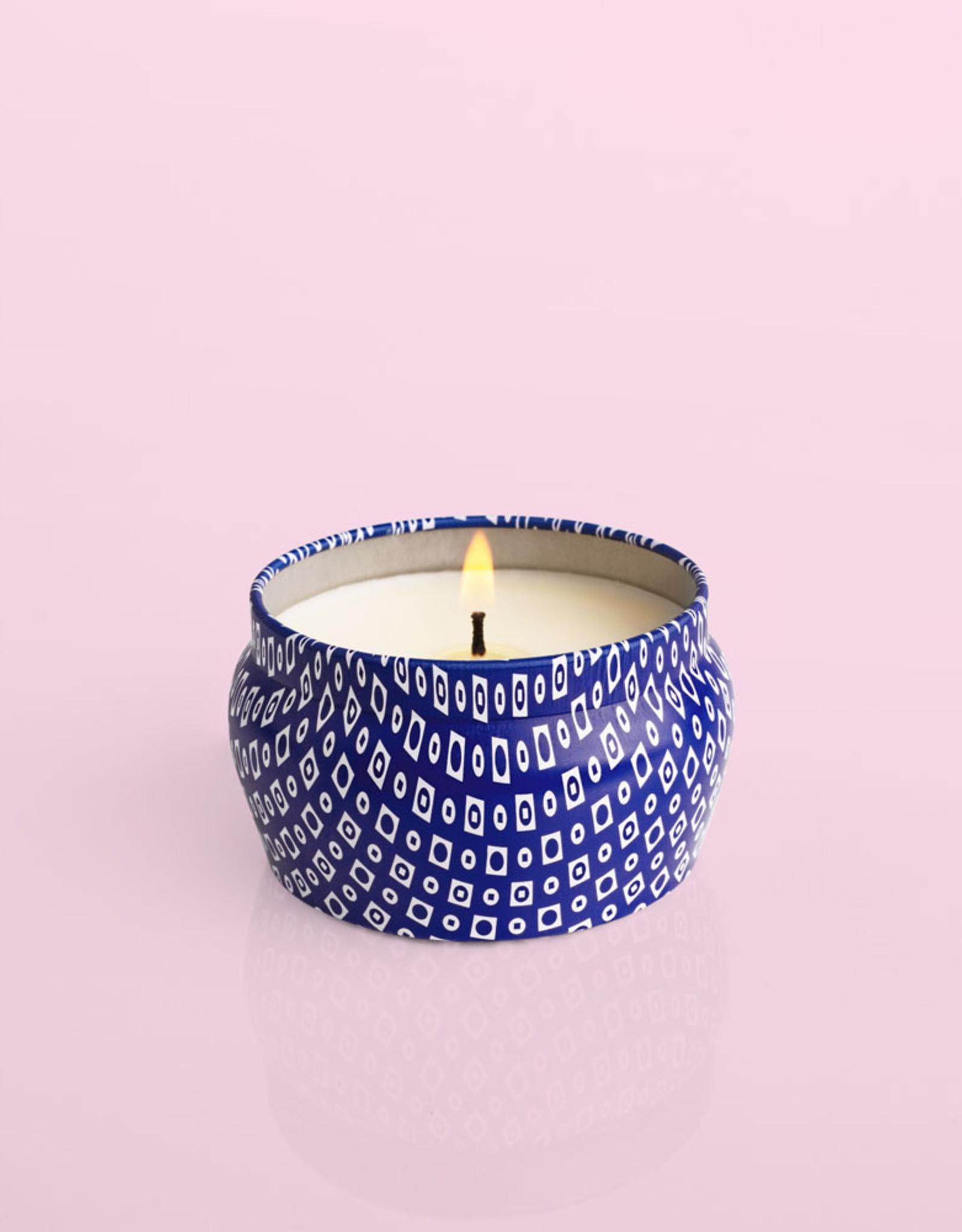Capri Blue Volcano Signature Blue Mini Tin Candle