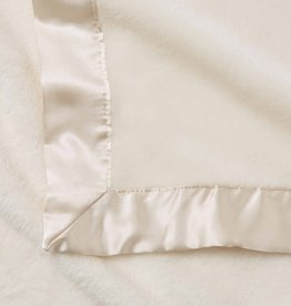 Elegant Baby Fleece Satin Edge Blanket Cream