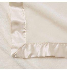 Elegant Baby Fleece Satin Edge Blanket Cream