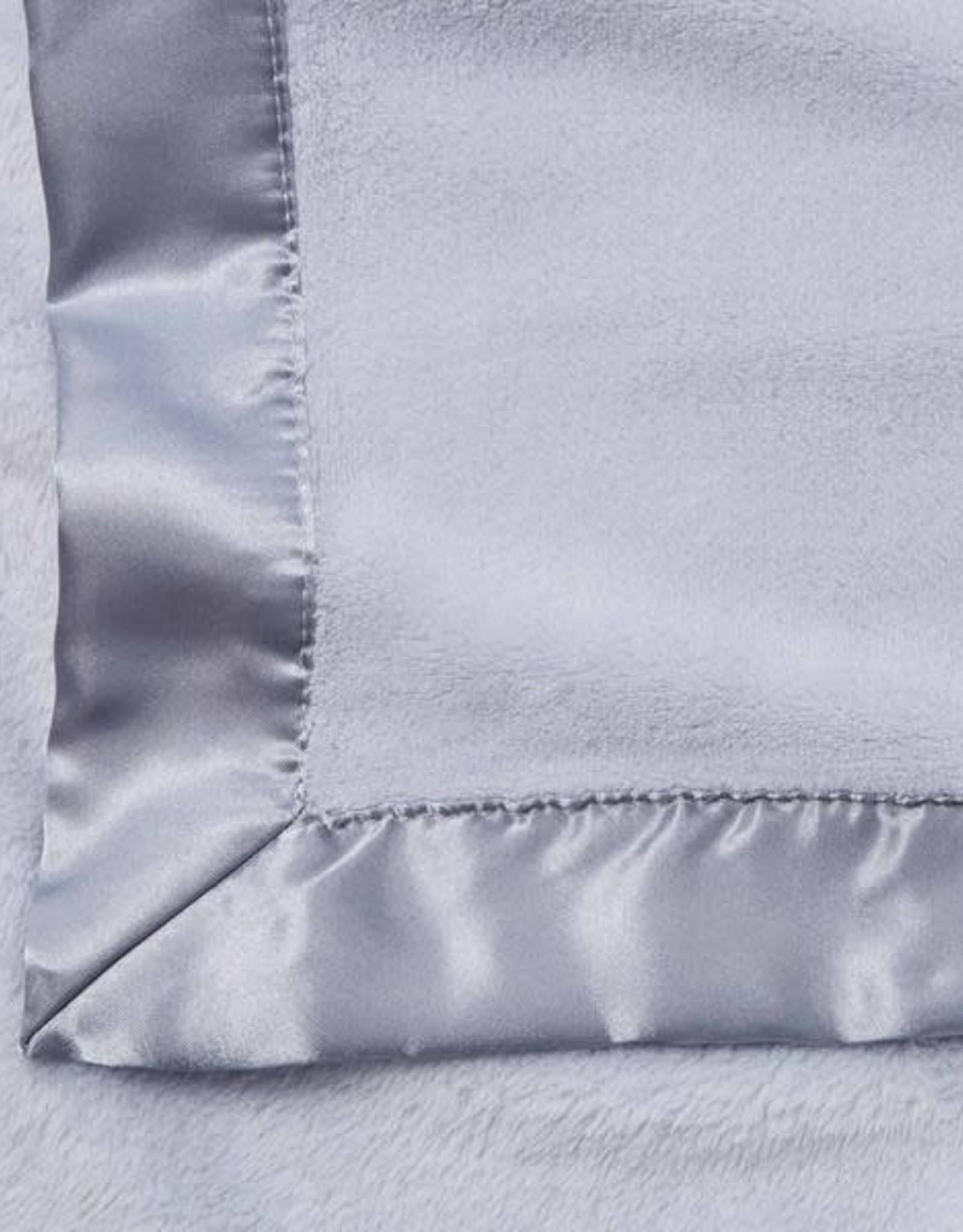 Elegant Baby Fleece Satin Edge Blanket Light Blue