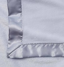 Elegant Baby Fleece Satin Edge Blanket Light Blue