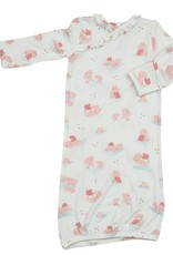 Angel Dear Hippo Pink Kimono Gown 0/3mo