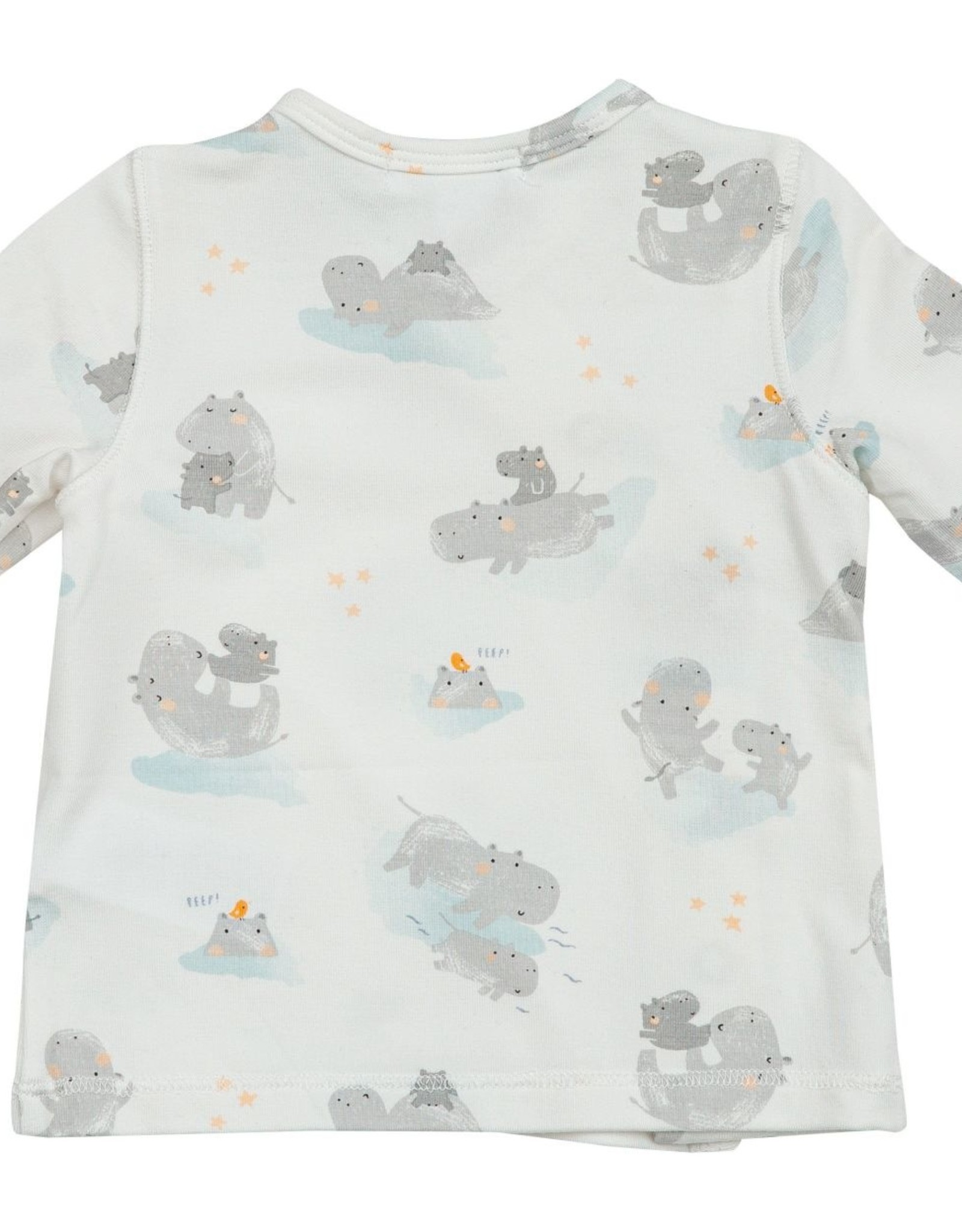 Angel Dear Hippo Grey Gown 0/3mo