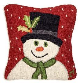 Pillow Top Hat Snowman 18x18