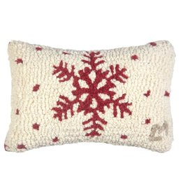 Red Flake Pillow 8x12