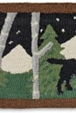 Dog Mural Hearth Rug 1'x4'