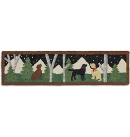 Dog Mural Hearth Rug 1'x4'