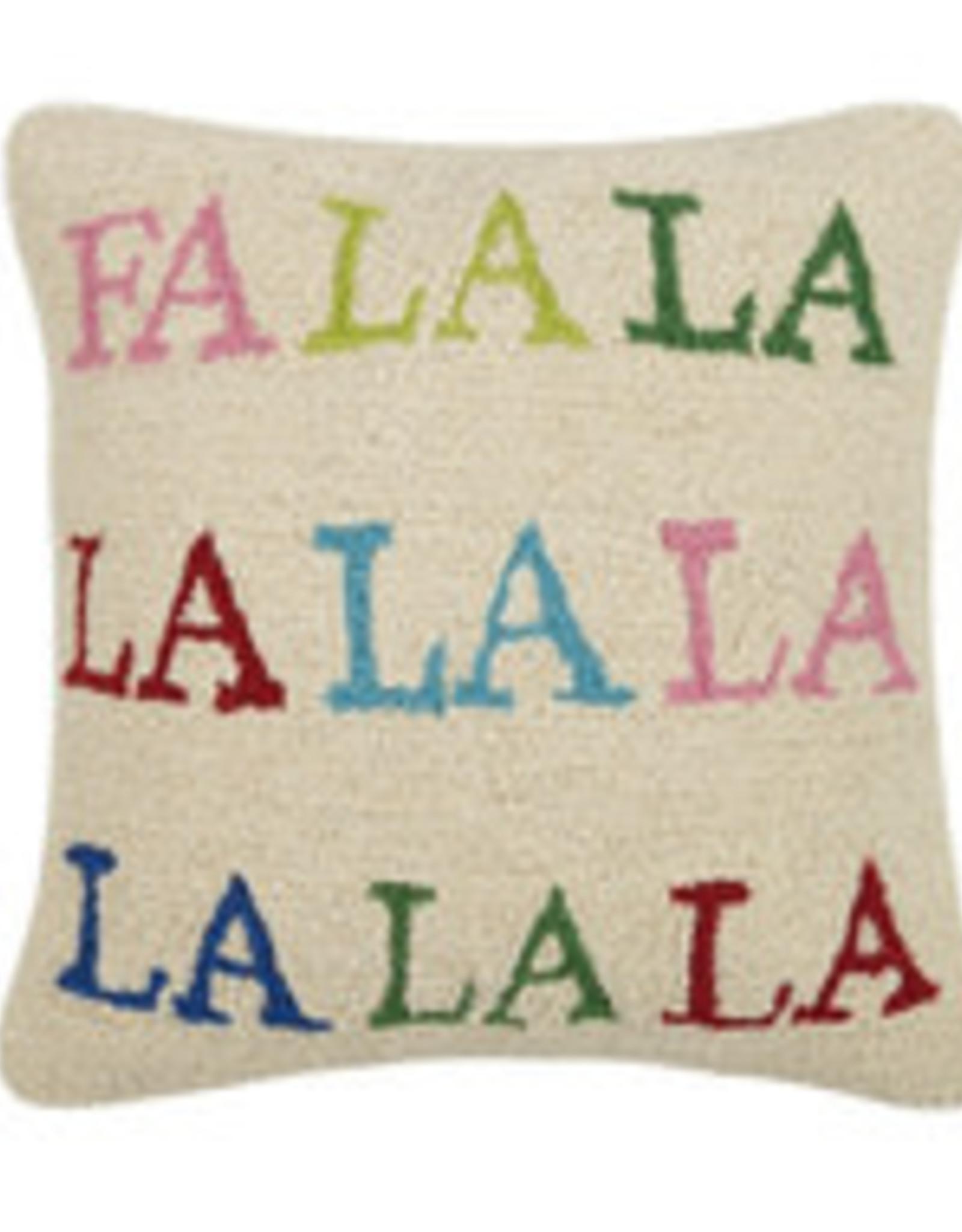 Fa La La Hooked Pillow
