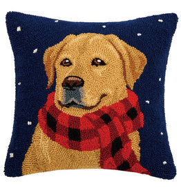 Pillow Golden Lab w/Scarf