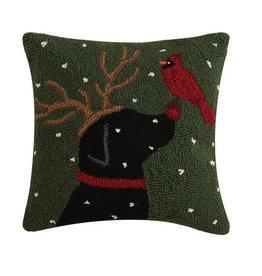 Reindeer Dog w/Cardinal Pillow