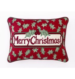 Pillow Merry Christmas Holly