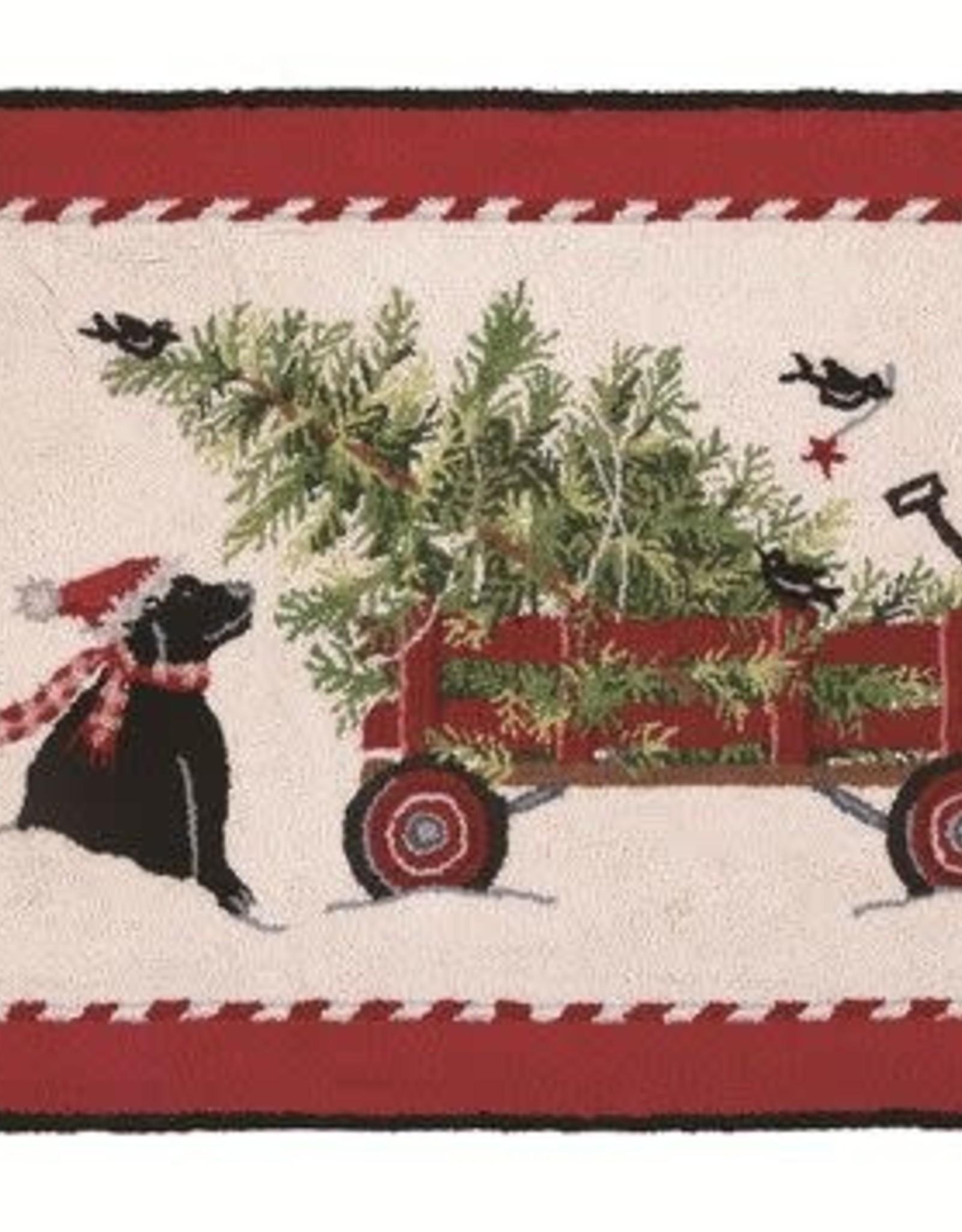 Christmas Tree Wagon Rug