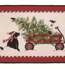 Christmas Tree Wagon Rug