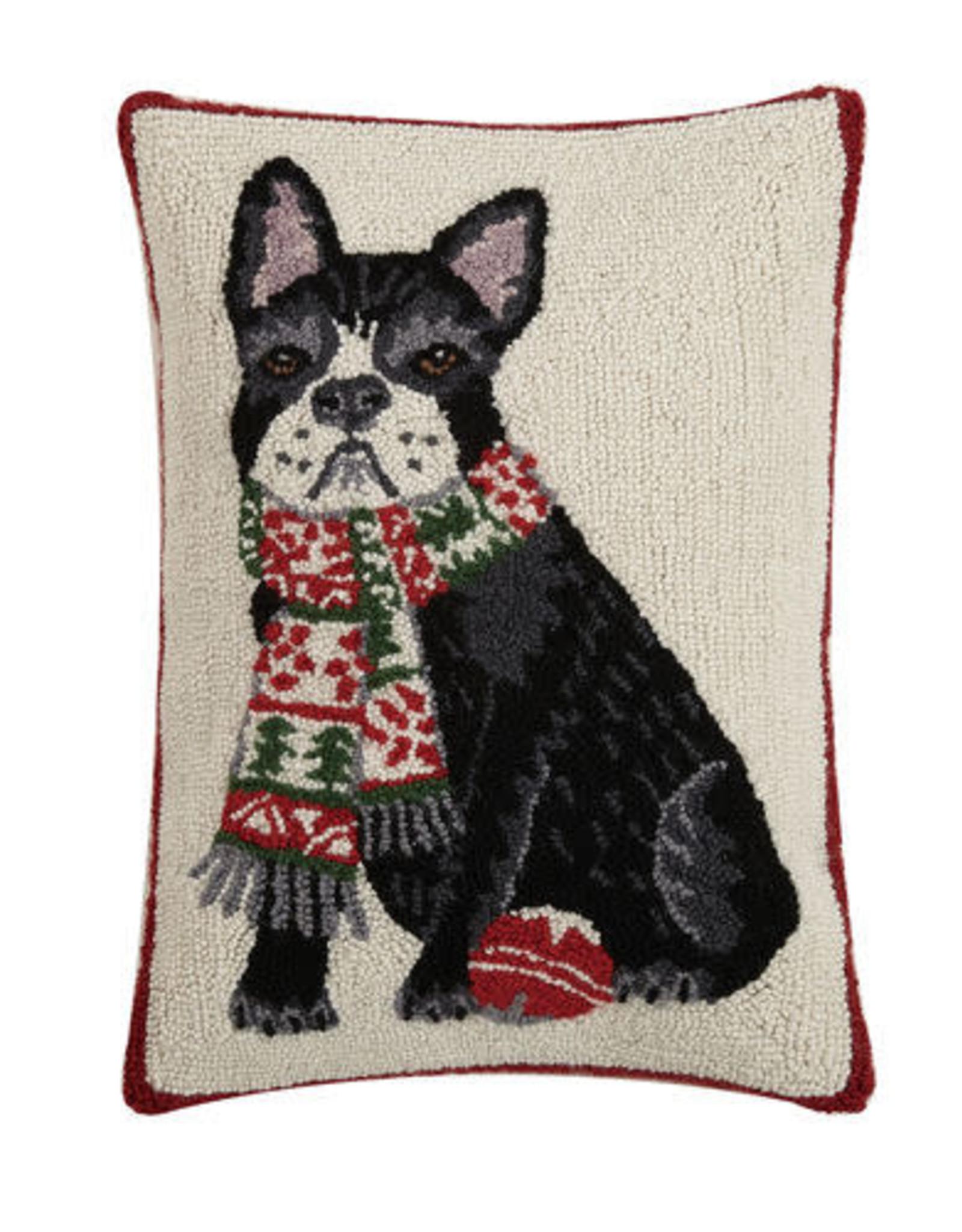 """Pillow Dog w/scarf 14x20"""""""