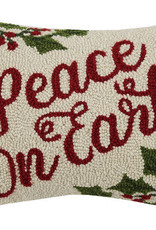 """Peace On Earth Hook Pillow 12X16"""""""
