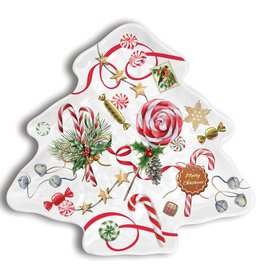 Michel Design Works Peppermint Christmas Tree Plate